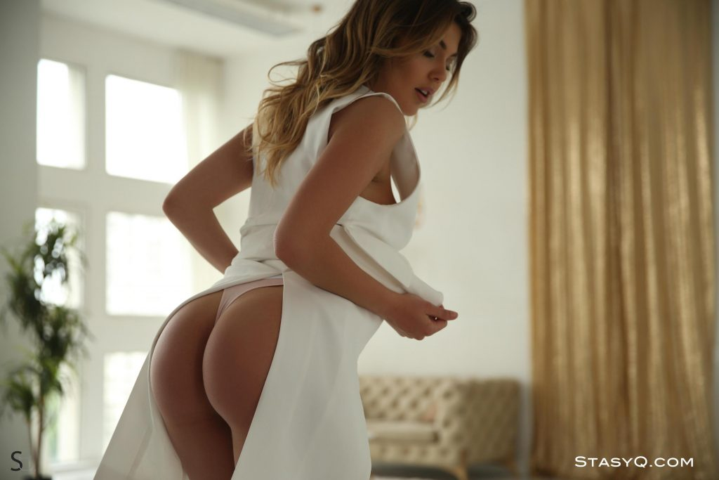 Monica Dee | White panties | StasyQ